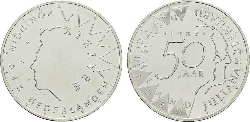 50 Gulden 1987. NIEDERLANDE Beatrix, 1980-2013. Stempelglanz -.