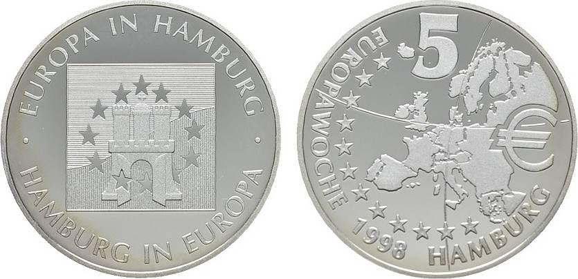 AR-Medaille 1998 STÄDTEMEDAILLEN Polierte Platte