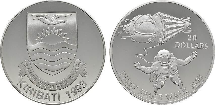 20 Dollars 1993 KIRIBATI Republik. Polierte Platte