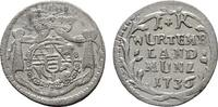 Kreuzer 1736. WÜRTTEMBERG Karl Alexander, 1733-1737. Fast vorzüglich-vo... 128,80 SGD 85,00 EUR  zzgl. 6,82 SGD Versand