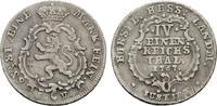 1/4 Reichstaler 1767. HESSEN Friedrich II., 1760-1785. Sehr schön.  136,38 SGD 90,00 EUR  zzgl. 6,82 SGD Versand