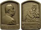 KAISERREICH ÖSTERREICH Bronzeplakette Franz Josef I., 1848-1916.