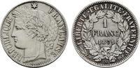 Franc 1871, A. FRANKREICH 3. Republik, 1870-1940. Fast Stempelglanz.  223.49 CAN$  zzgl. 6.29 CAN$ Versand