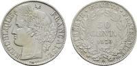 50 Centimes 1873, A. FRANKREICH 3. Republik, 1870-1940. Vorzüglich +  219,72 SGD 145,00 EUR  zzgl. 6,82 SGD Versand