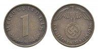 1 Reichspfennig 1936, G. DRITTES REICH  Stempelglanz -  242,45 SGD 160,00 EUR  zzgl. 6,82 SGD Versand