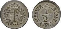 1/2 Kreuzer 1837. WÜRTTEMBERG Wilhelm I., 1816-1864. Vorzüglich-stempel... 167.62 CAN$  zzgl. 6.29 CAN$ Versand