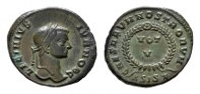 Æ-Follis, Siscia. RÖMISCHE KAISERZEIT Licinius II., 317-324, als Caesar... 118.73 CAN$  zzgl. 6.29 CAN$ Versand