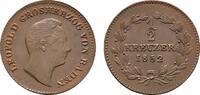 Ku.-1/2 Kreuzer 1852. BADEN Karl Ludwig Friedrich, 1811-1818. Vorzüglic... 111.74 CAN$  zzgl. 6.29 CAN$ Versand