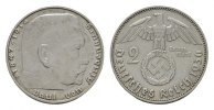 2 Reichsmark 1936, J. DRITTES REICH  Fast vorzüglich.  110,00 EUR  + 7,00 EUR frais d'envoi