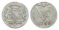 2 1/2 Cents 1758. NIEDERL.-INDIEN Utrecht Kl. Zainende, sehr schön-vorz... 120,00 EUR  +  7,00 EUR shipping