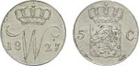 5 Cents 1827, Utrecht. NIEDERLANDE Wilhelm I., 1813-1840. Vorzüglich-st... 216.50 CAN$  zzgl. 6.29 CAN$ Versand