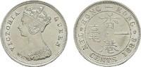 10 Cents 1886. HONG KONG Victoria, 1841-1901. Fast Stempelglanz.  181,84 SGD 120,00 EUR  zzgl. 6,82 SGD Versand