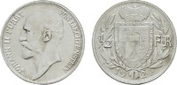 1/2 Frank 1924. LIECHTENSTEIN Johann II., 1858-1929. Fast Stempelglanz/... 195.55 CAN$  zzgl. 6.29 CAN$ Versand