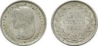 10 Cents 1892. NIEDERLANDE Wilhelmina, 1890-1948. Fast Stempelglanz.  95,00 EUR  + 7,00 EUR frais d'envoi