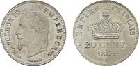 20 Centimes 1864, A. FRANKREICH Napoléon III, 1852-1870. Vorzüglich-ste... 125.71 CAN$  zzgl. 6.29 CAN$ Versand