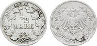 1/2 Mark 1917, F. Deutsches Reich  Vorzüglich-stempelglanz  121,23 SGD 80,00 EUR  zzgl. 6,82 SGD Versand