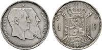 1 Franc 1880. BELGIEN Leopold II., 1865-1909. Vorzüglich-stempelglanz  80,00 EUR  +  7,00 EUR shipping