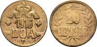 20 Heller 1916, T. DEUTSCHE KOLONIEN  Vorzüglich +  227,30 SGD 150,00 EUR  zzgl. 6,82 SGD Versand