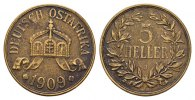 5 Heller 1909, J. DEUTSCHE KOLONIEN  Sehr schön -Vorzüglich  174.60 CAN$  zzgl. 6.29 CAN$ Versand