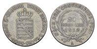 20 Kreuzer 1812, L. SACHSEN Ernst I., 1806-1826. Sehr schön+;  227,30 SGD 150,00 EUR  zzgl. 6,82 SGD Versand