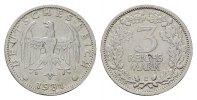 3 Reichsmark 1931, E. WEIMARER REPUBLIK  Vs kl. Schrtl.Fehler. Sehr sch... 447,02 SGD 295,00 EUR  zzgl. 6,82 SGD Versand
