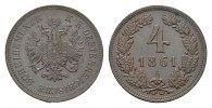 4 Kreuzer 1861, A. KAISERREICH ÖSTERREICH Franz Josef I., 1848-1916. St... 242,45 SGD 160,00 EUR  zzgl. 6,82 SGD Versand