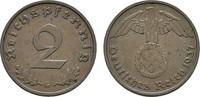 2 Reichspfennig 1937, G. DRITTES REICH  Vorzüglich +  10,00 EUR  zzgl. 4,50 EUR Versand