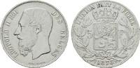BELGIEN 5 Francs Leopold II., 1865-1909.