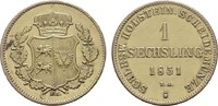 Sechsling 1850 SCHLESWIG-HOLSTEIN Statthalterschaft, 1848-1851. Vergold... 10,00 EUR  zzgl. 4,50 EUR Versand