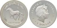 1 Dollar 2002, P. AUSTRALIEN Elizabeth II. seit 1952. Polierte Platte  151,53 SGD 100,00 EUR  zzgl. 6,82 SGD Versand