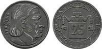25 Pfennig 1921. RHEINPROVINZ  Fast vorzüglich.  4,00 EUR  zzgl. 4,50 EUR Versand
