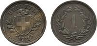 1 Rappen 1911 B. SCHWEIZ  Vorzüglich +  15,00 EUR  zzgl. 4,50 EUR Versand