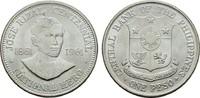 1 Peso 1961. PHILIPPINEN Republik seit 1946. Stempelglanz -  16,00 EUR  zzgl. 4,50 EUR Versand