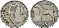 1/2 Crown 1928. GROSSBRITANNIEN Freistaat, 1922-1937. Sehr schön  8,00 EUR  zzgl. 4,50 EUR Versand