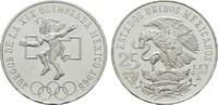 25 Pesos 1968. MEXIKO Republik. Kl.Kratzer. Stempelglanz  12,00 EUR  zzgl. 4,50 EUR Versand