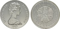Crown 1982. GROSSBRITANNIEN Elizabeth II seit 1952. Fleckig, Polierte P... 18,00 EUR  zzgl. 4,50 EUR Versand