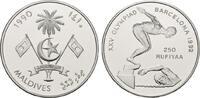 250 Rufiyaa 1990. MALEDIVEN Republik. Polierte Platte  20,00 EUR  zzgl. 4,50 EUR Versand