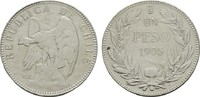 1 Peso 1905. CHILE Republik. Sehr schön +  25,00 EUR  zzgl. 4,50 EUR Versand