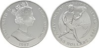 50 Dollars 1987. COOK ISLANDS Elizabeth II. seit 1952. Polierte Platte  20,00 EUR  zzgl. 4,50 EUR Versand