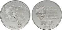 10 Deniers 1993. ANDORRA Parlamentarische Monarchie. Polierte Platte  20,00 EUR  zzgl. 4,50 EUR Versand