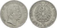 5 Mark 1876, H. Hessen Ludwig III., 1848-1877. Sehr schön  90,00 EUR  + 7,00 EUR frais d'envoi