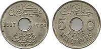 ÄGYPTEN 5 Milliemes Husein Kamil, 1915-1917.