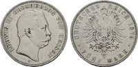 5 Mark 1875. Hessen Ludwig III., 1848-1877. Fast Sehr schön  125.71 CAN$  zzgl. 6.29 CAN$ Versand