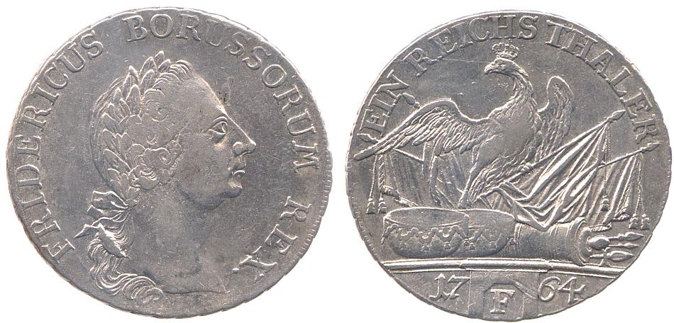 Taler 1764 Brandenburg-Preußen Taler 1764 F ss