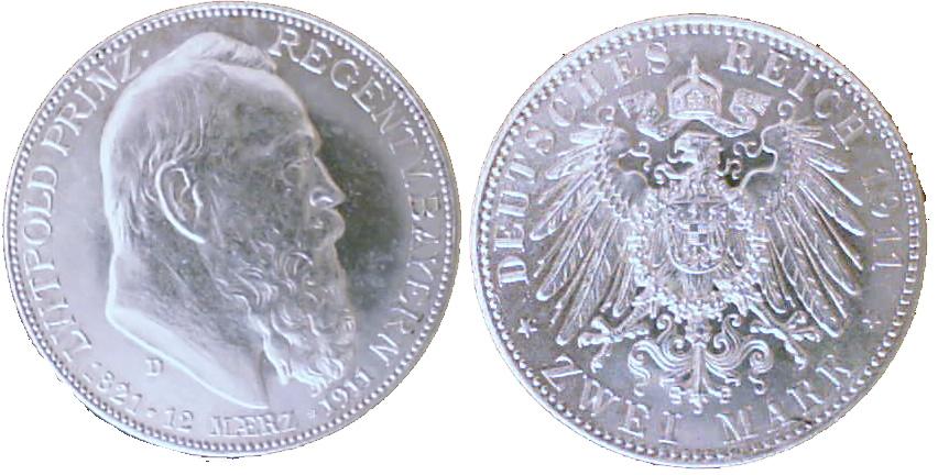 2 Mark 1911 Bayern 2 Mark 1911 D fst