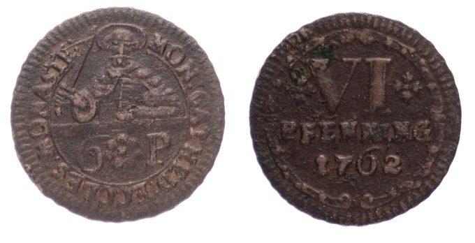 6 Pfennig 1762 Münster, Domkapitel s-ss