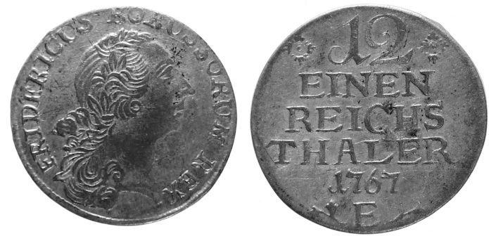 1/12 Taler 1767 E Preußen ss - vz