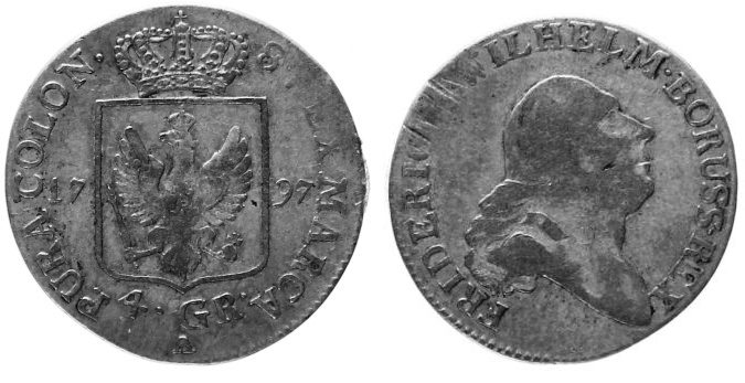 4 Groschen = 1/6 Taler 1797 A Preußen ss