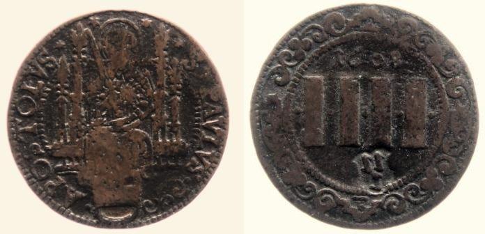 4 Pfennig 1608 Münster, Domkapitel s - ss