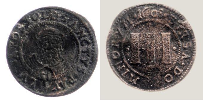 3 Pfennig 1608 Münster, Domkapitel s - ss